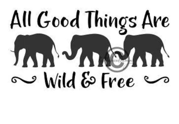 Download Elephant Svg Elephants Dxf Wild And Free Svg 3 Elephants ...