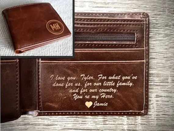 Personalized Wallet for Men from Swanky Badger