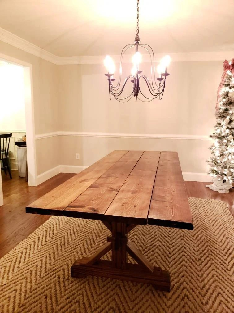 Farmhouse Trestle Table DIY Kit Made To Order Etsy