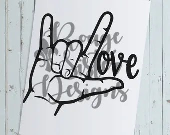 Download Fine Art Print Gesture ASL for I Love You Medium