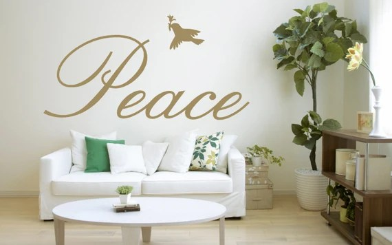 Peace Words for the Wall by Fabuloustickers