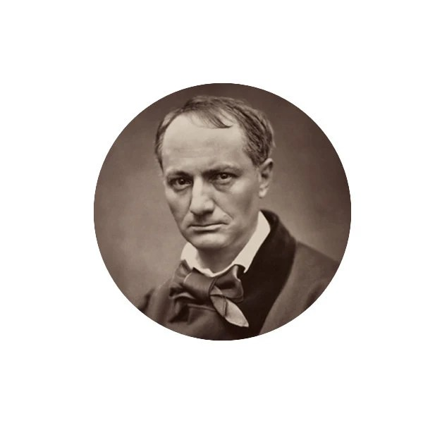 "Baudelaire 1.25"" pin..."