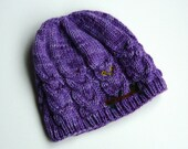 Knitted wool hat, made to...