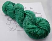 Into the Woods: 438 yards 75/20/5 Superwash Merino/Nylon/Stellina fingering weight yarn in Luminosity yarn base.