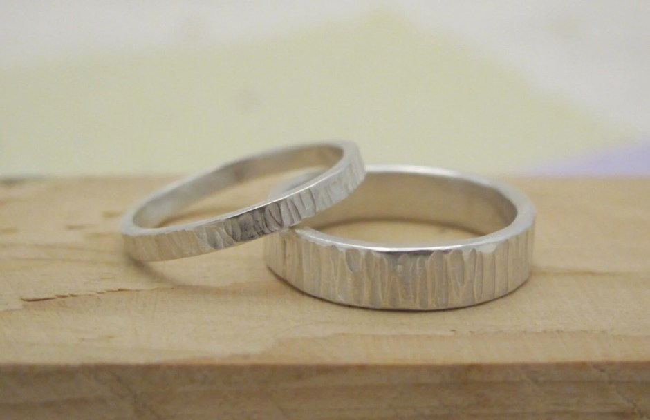 Wide band 4mm sterling si...