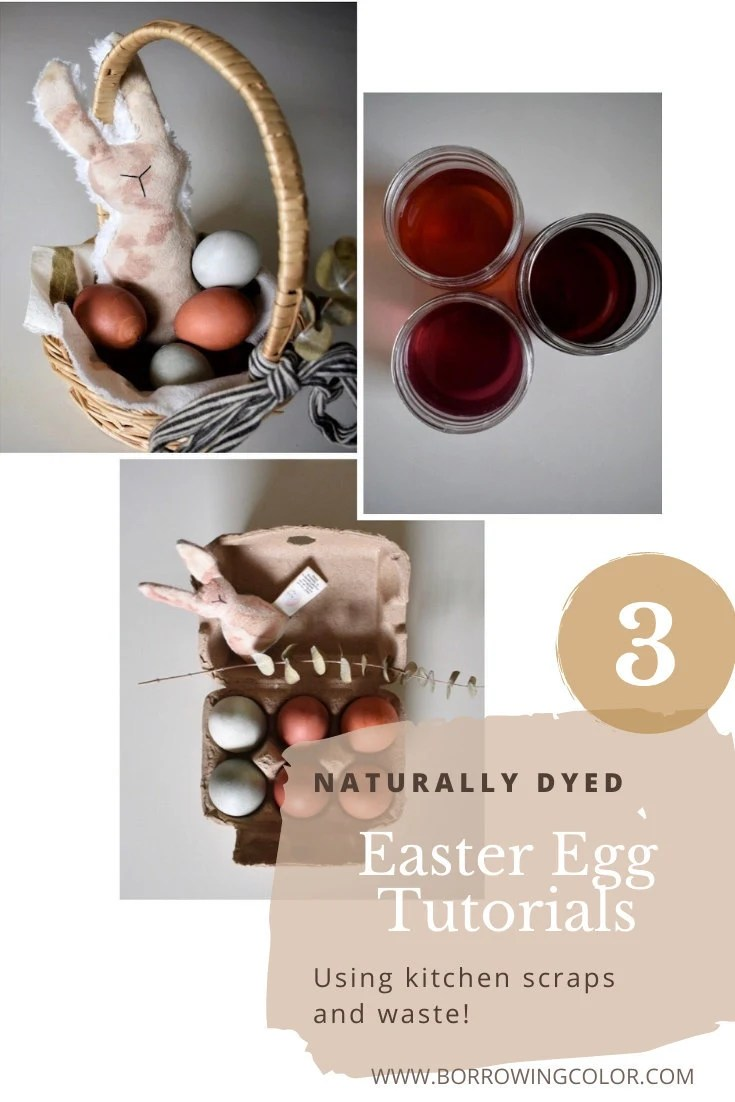 3 Naturally Dyed Easter Egg Tutorials Using Kitchen Scraps and Waste!