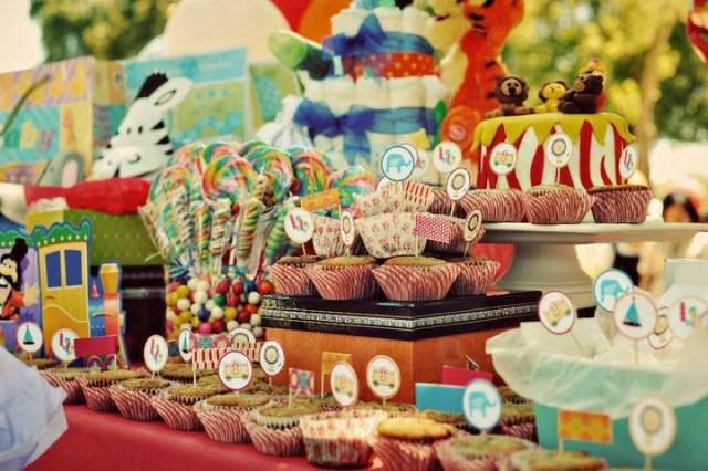 circus baby shower theme