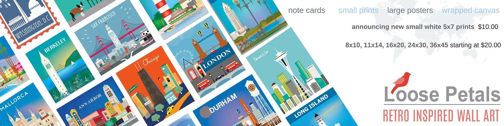 City Art Prints Posters Note Cards Canvas Prints Di Loosepetals
