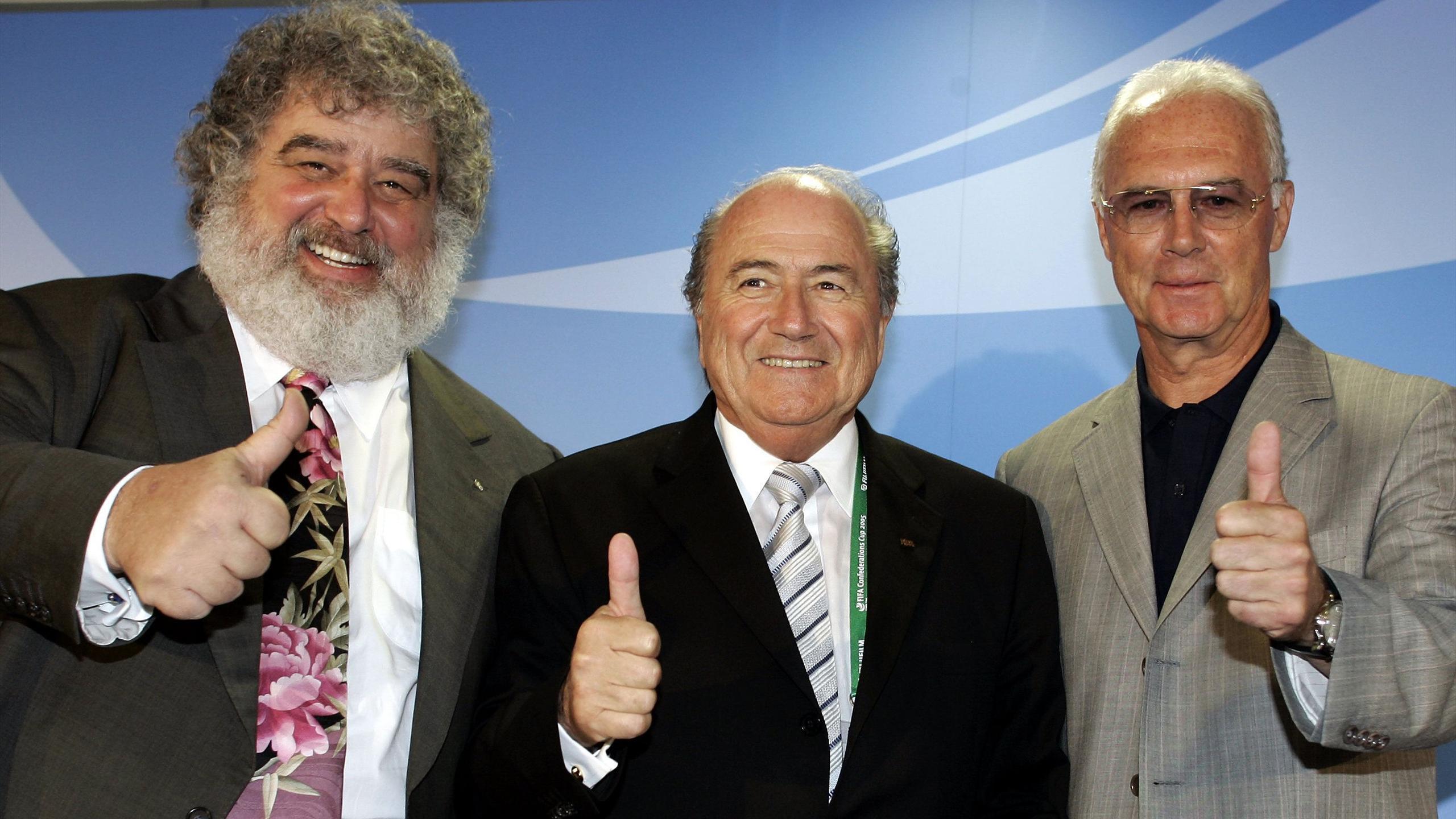 Chuck Blazer, Joseph Blatter et Franz Beckenbauer