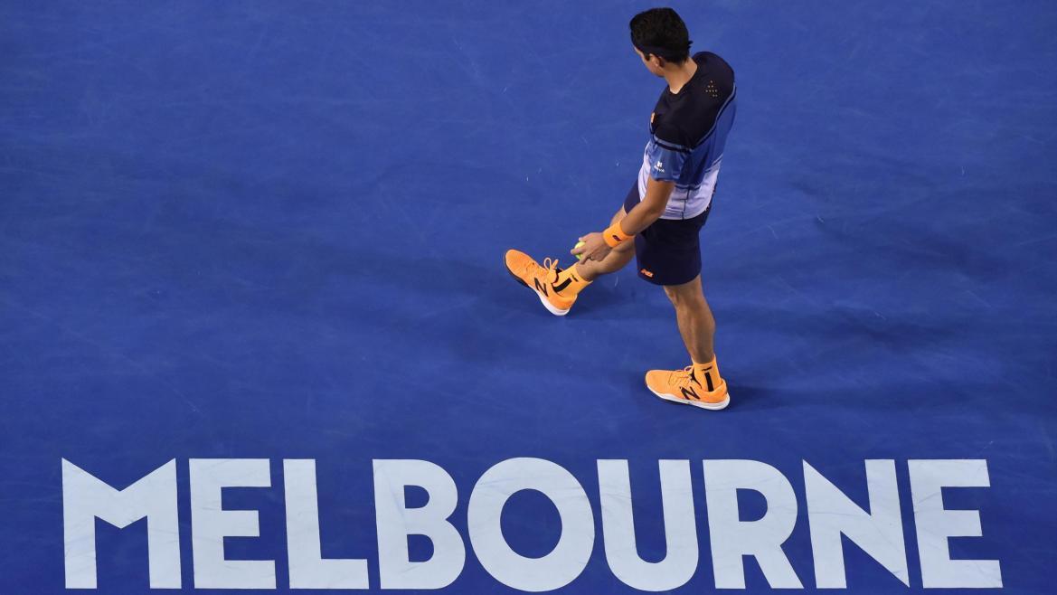 Milos Raonic à l'Open d'Australie, en 2016