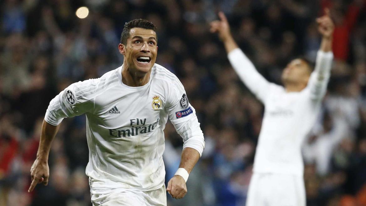 Cristiano Ronaldo (Real) face à Wolfsburg