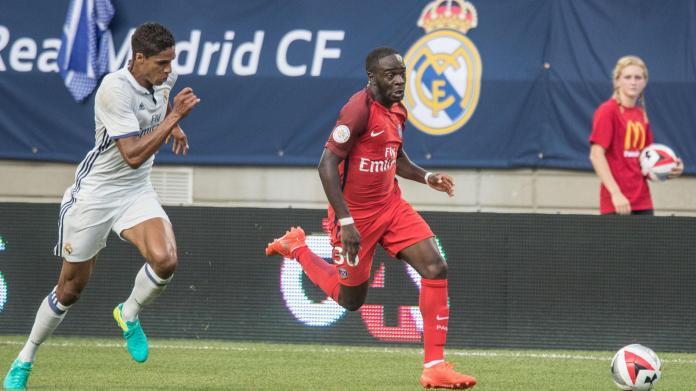 Jordan Ikoné (PSG) contre le Real Madrid en présaison