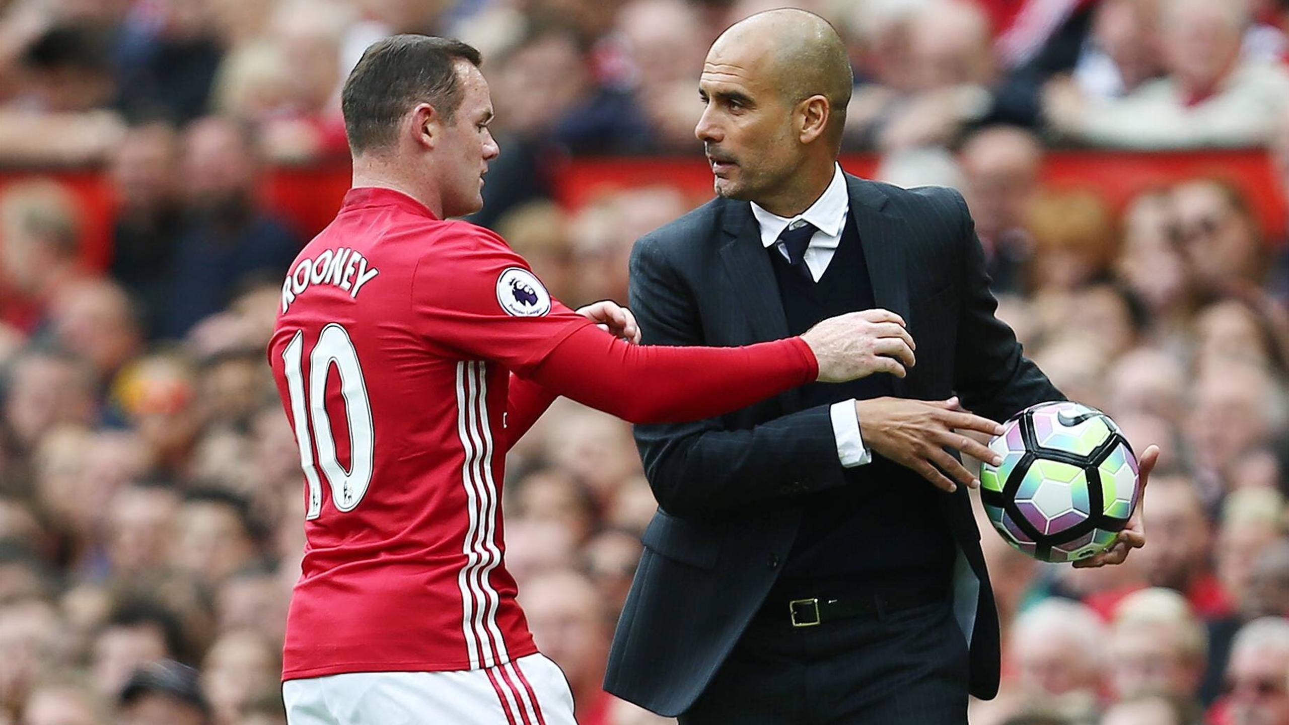 Image result for pep guardiola wayne rooney
