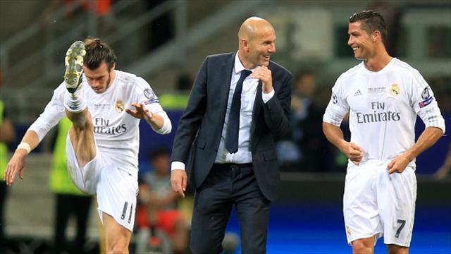 Image result for Zidane cristiano and Bale happy