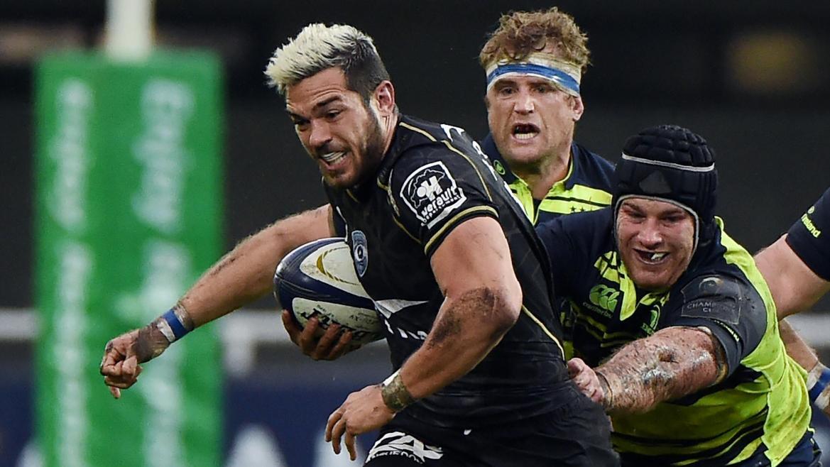 Vincent Martin (Montpellier) face au Leinster - 23 octobre 2016