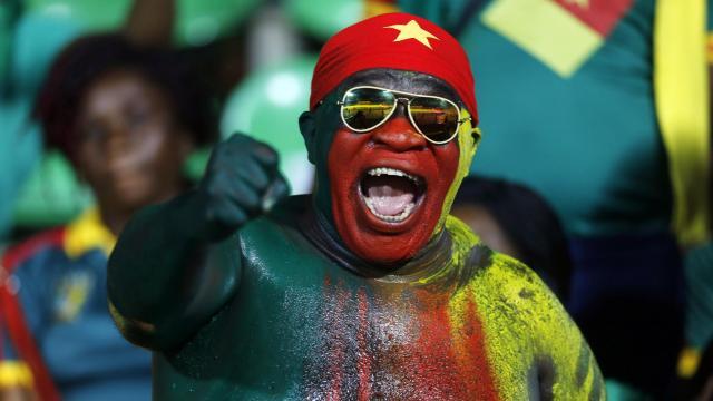 A Cameroon fan