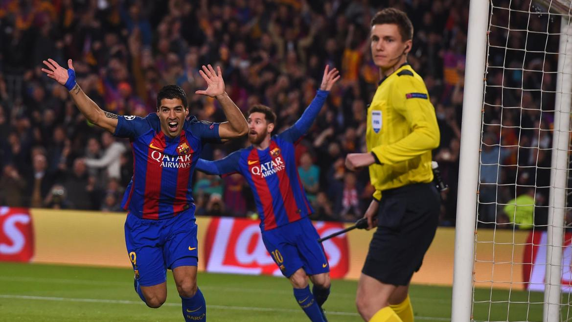 Image result for Barcelona  4-0  PSG CAMNOU 2017