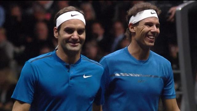 Nadal and Federer double's highlights
