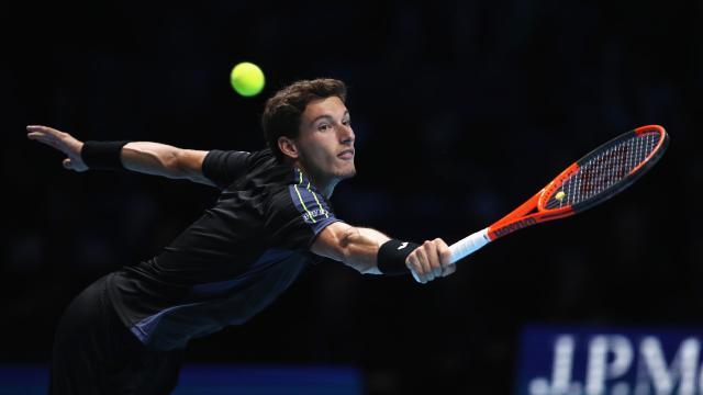 Pablo Carreño durante el partido que le enfretó a Grigor Dimitrov en las ATP Finals
