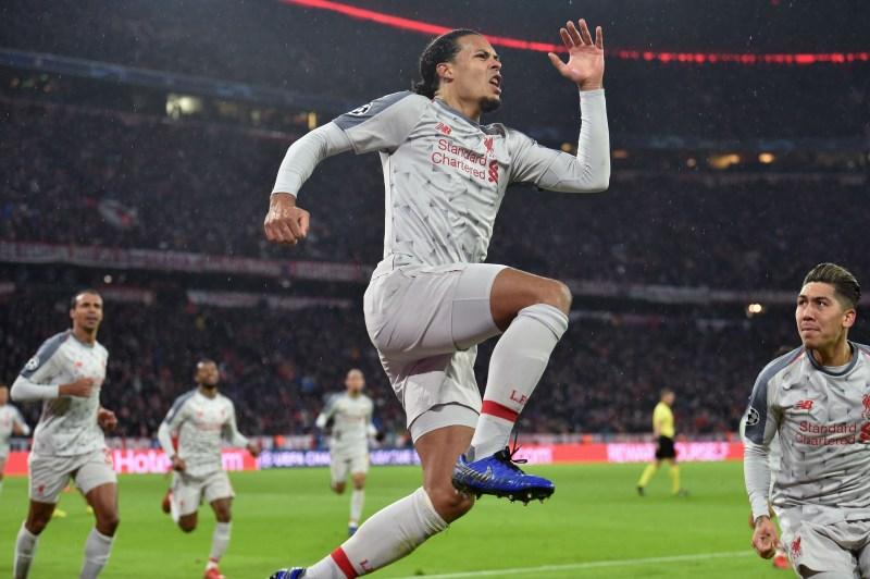Virgil van Dijk marque le 2e but de Liverpool face au Bayern Munich / Ligue des champions