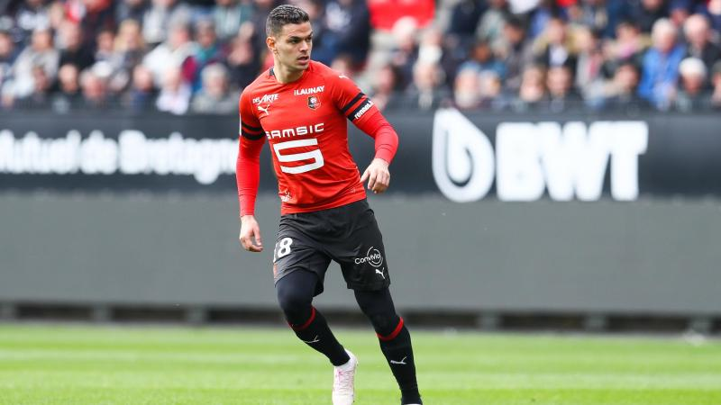 Hatem Ben Arfa lors du match opposant Rennes à Nice, le 14 avril 2019
