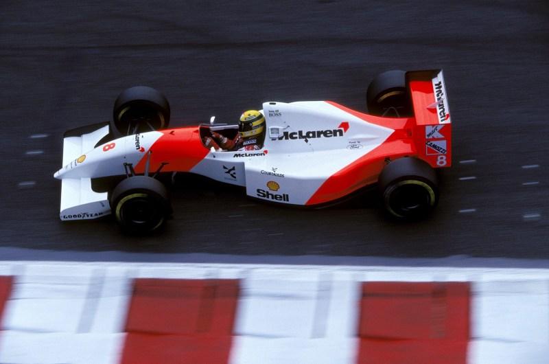 Ayrton Senna (McLaren) au Grand Prix de France 1993