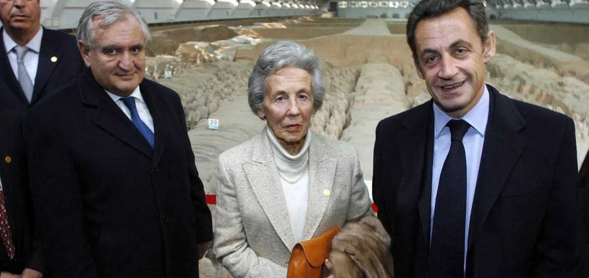 Andrée Sarkozy et son fils Nicolas Sarkozy
