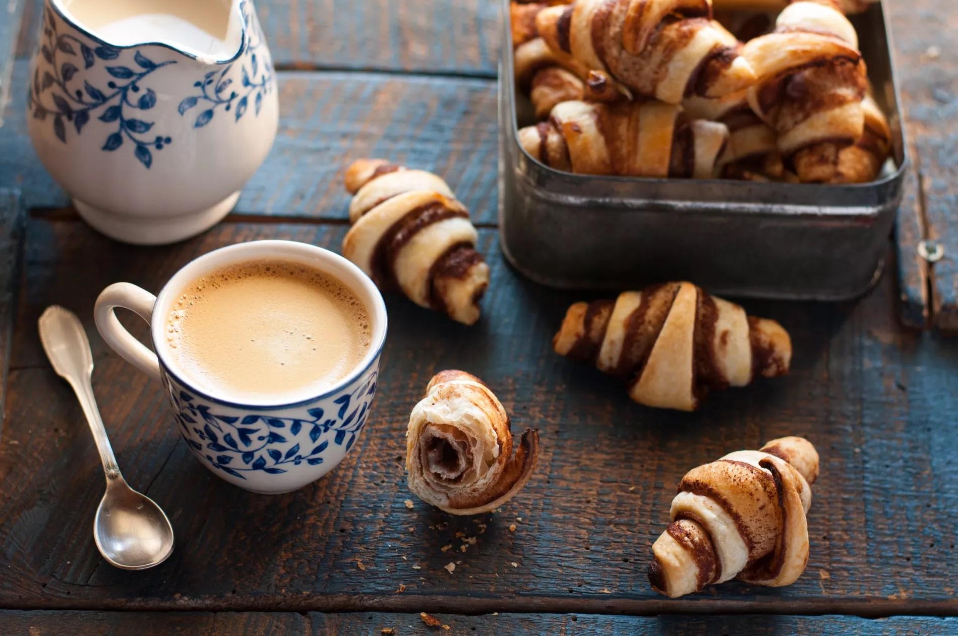 brunch petit dejeuner recettes rapides mini croissants vegans chocolat orange cannelle
