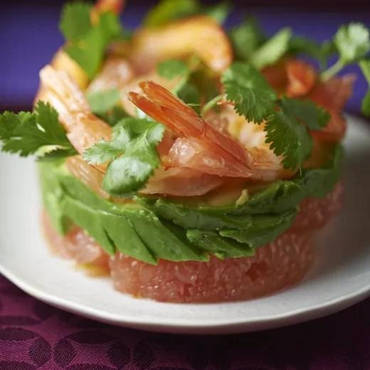 salade de crevettes pamplemousse et avocat