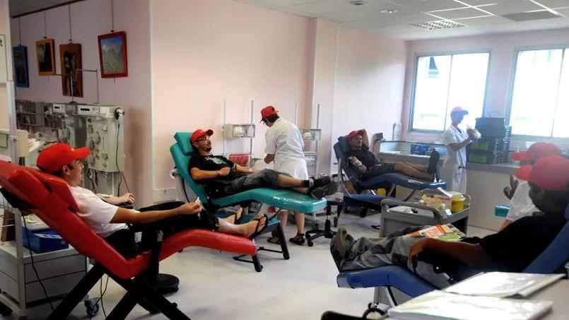 Don du sang à l'Établissement français du sang