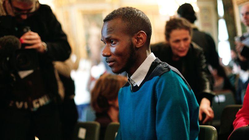 Le jeune homme peu avant le discours de John Kerry, le 16 janvier.