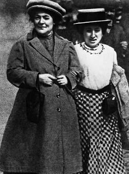 Clara Zetkin (à gauche) et son amie Rosa Luxemburg peu avant 1914.