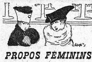 Illustration de la chronique mode dans Le Figaro du 14 octobre 1916.