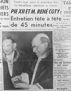 M. René Coty au Vatican dans Le Figaro du 14 mai 1957.