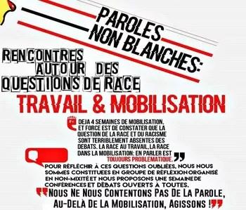 «Paroles non-blanches», un évènement organisé mi-avril à Paris 8 avait fait polémique.