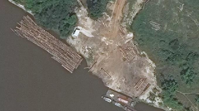 Une image satellite du rapport de Global Witness.