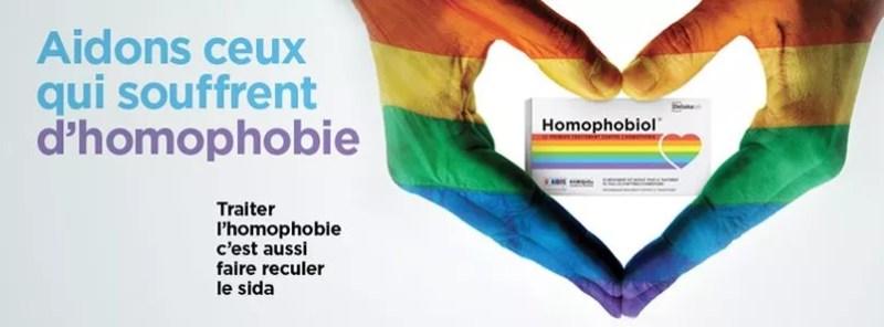 L'association Aides diffuse largement l'idée décalée d'une solution miracle contre l'homophobie.