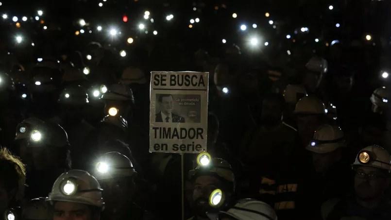 Des mineurs protestaient ce 21 mai à Leon, au nord de l'Espagne, contre le plan du gouvernement.