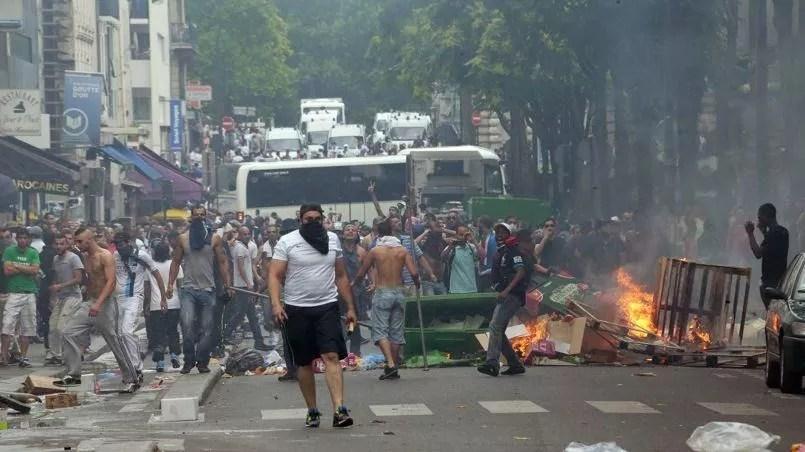 Le quartier parisien de Barbès, lorsque la manifestation interdite de juillet 2014 - Crédits photo: JACQUES DEMARTHON/AFP