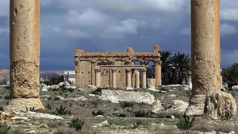 Le temple de Baalshamin en Syrie Crédits photo: JOSEPH EID/AFP
