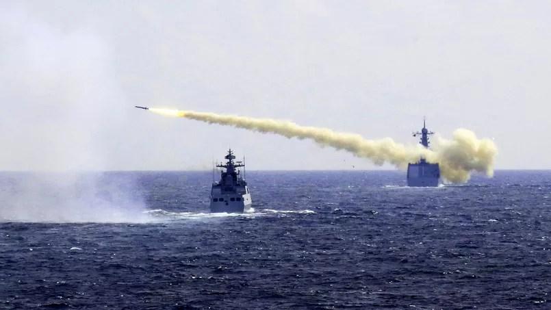 Un exercice naval en Mer de Chine méridionale en août 2016.