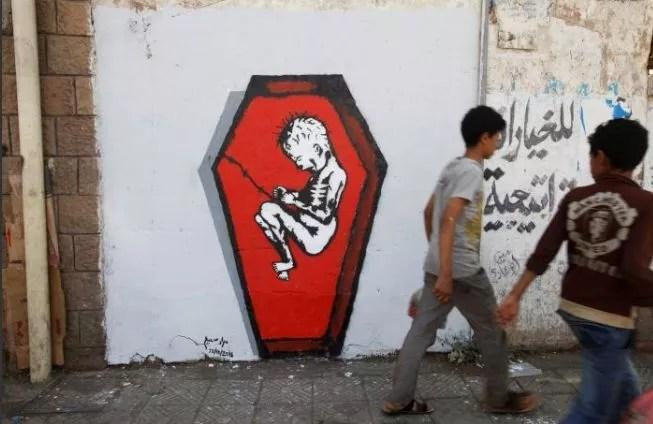 Graffiti de Murad Subai, Sanaa, Yémen.