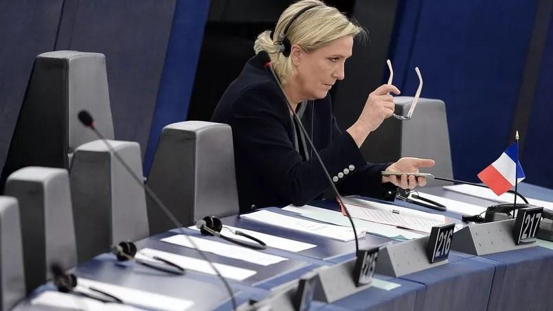 Marine Le Pen, à Strasbourg, fin octobre.