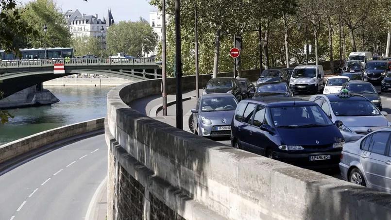 Après la fermeture des voies sur berges aux automobilistes, à Paris.