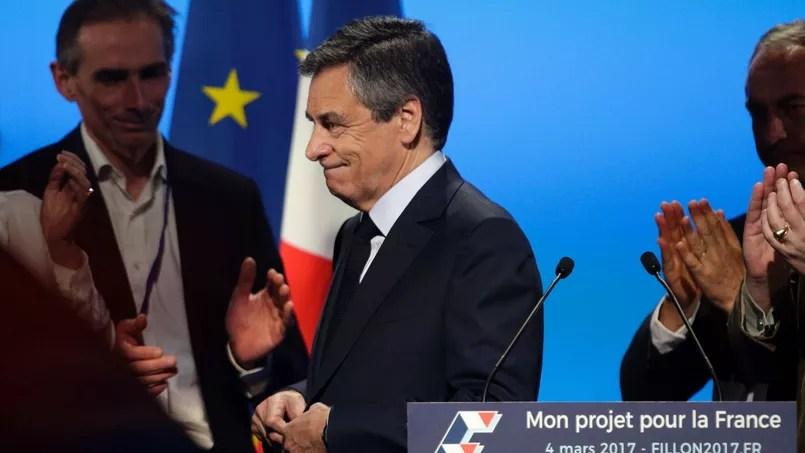 François Fillon, samedi à Aubervilliers.
