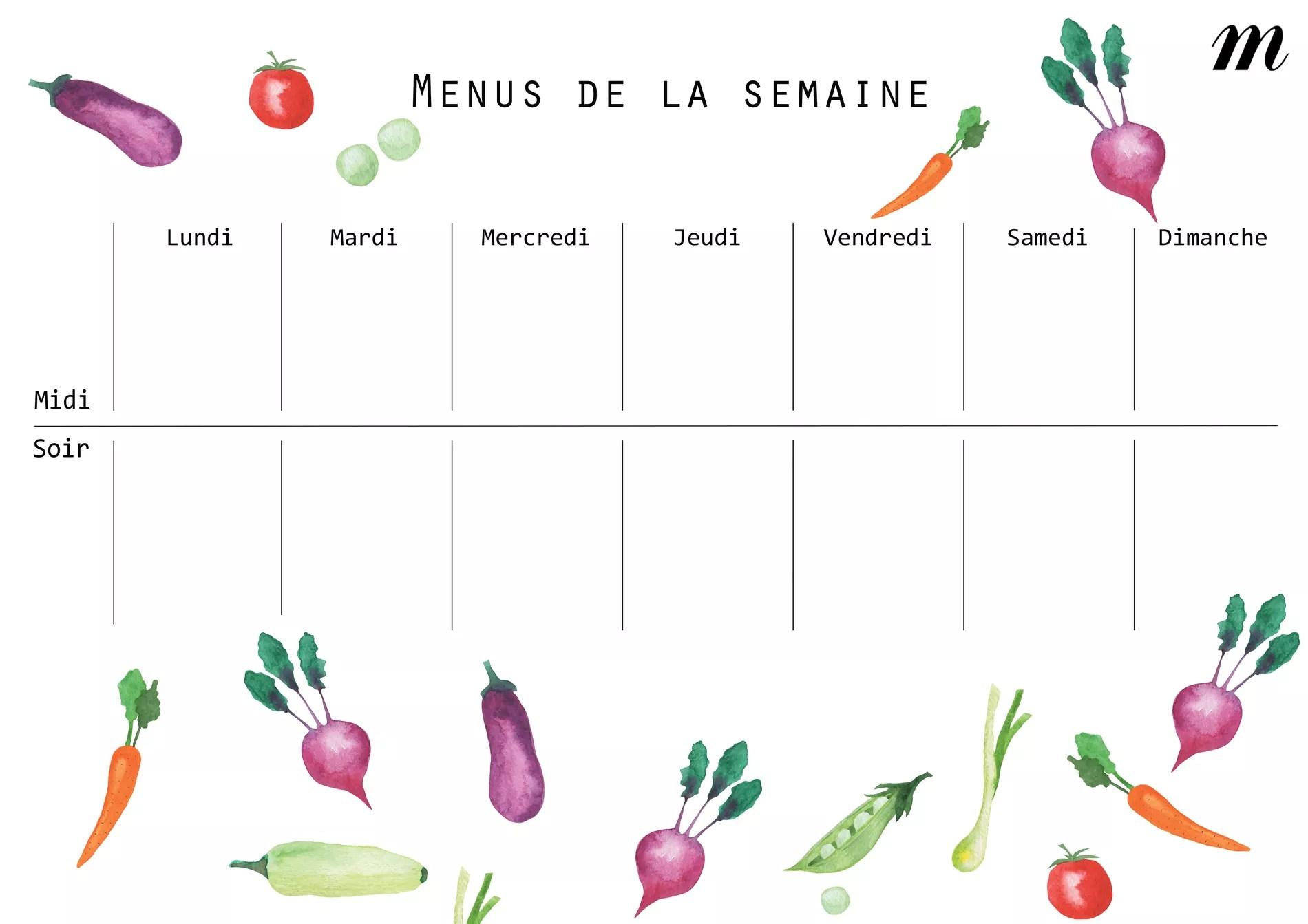 Composer Ses Menus De La Semaine Une Bonne Idee A Tester Pendant Le Confinement Cuisine Madame Figaro