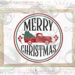 Merry Christmas Red Truck Svg Vintage Christmas Sign Svg 292888 Svgs Design Bundles