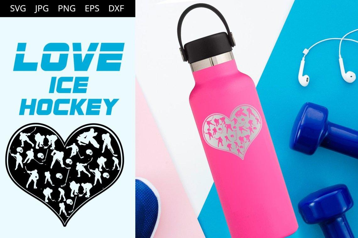 Download Love Ice Hockey SVG Vector (359894) | Illustrations ...