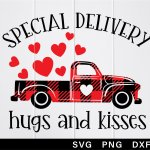 Special Delivery Hugs And Kisses Svg Old Truck With Heart 1141382 Cut Files Design Bundles