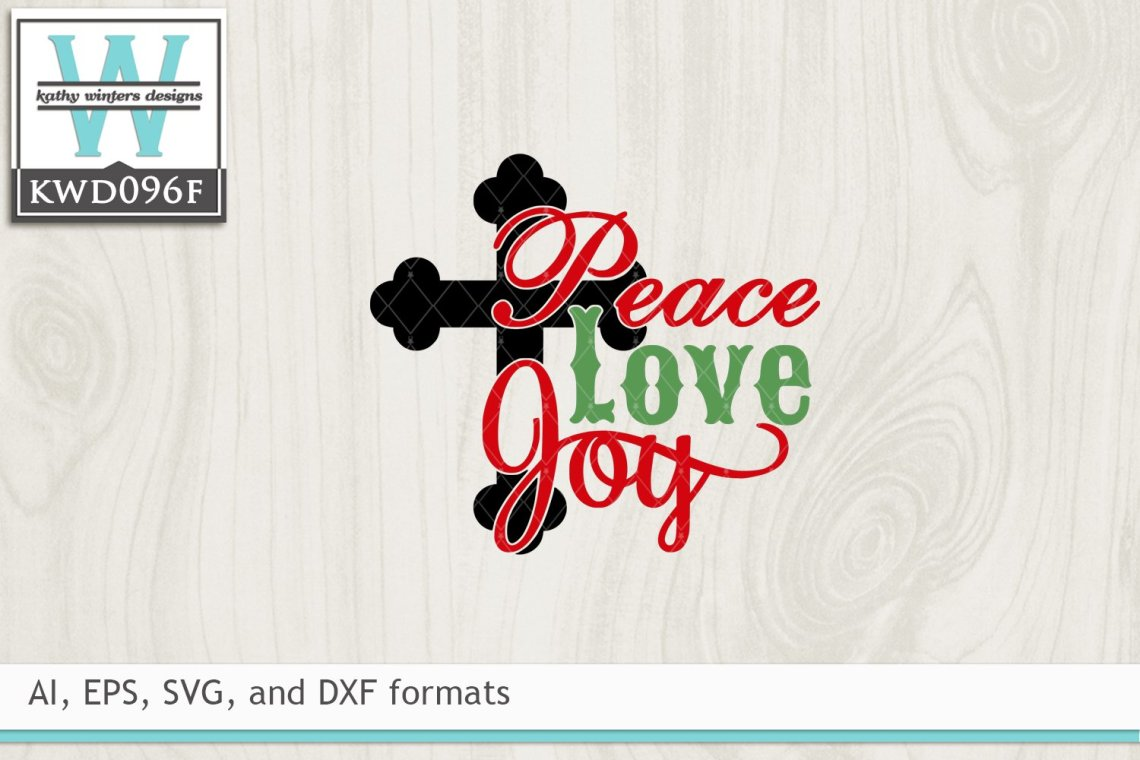 Download Christmas SVG - Peace Love Joy (9352)   Cut Files   Design ...